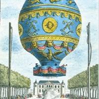 Der Flugapparat der Gebrüder Montgolfier (1783) war innen mit einer dünnen Papierschicht ausgekleidet<br><span style='float:right; font-size:11px;font-weight:normal;'>© VdP</span>