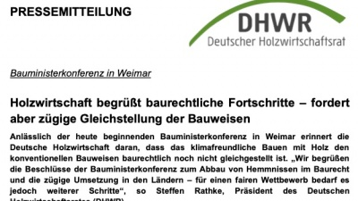 Frontseite DHWR-PM Bauministerkonferenz