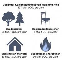 Kohlenstoffeffekt Wald und Holz